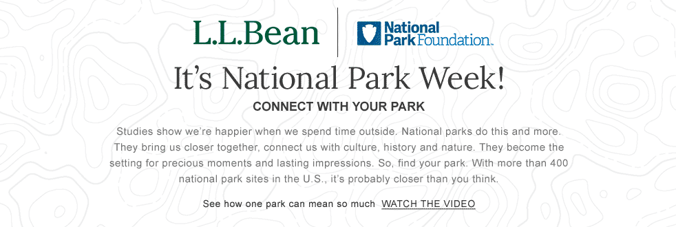It's National Park Week! CONNECT WITH YOUR PARK Studies show we're happier when we spend time outside. National parks do this and more. They bring us closer together, connect us with culture, history and nature. They become the setting for precious moments and lasting impressions. So, find your park. With more than 400 national park sites in the U.S., it's probably closer than you think.