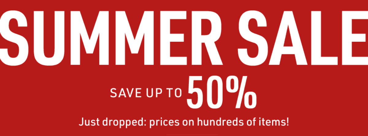SUMMER SALE Save Up To 50%
