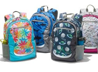 Group of school backpacks