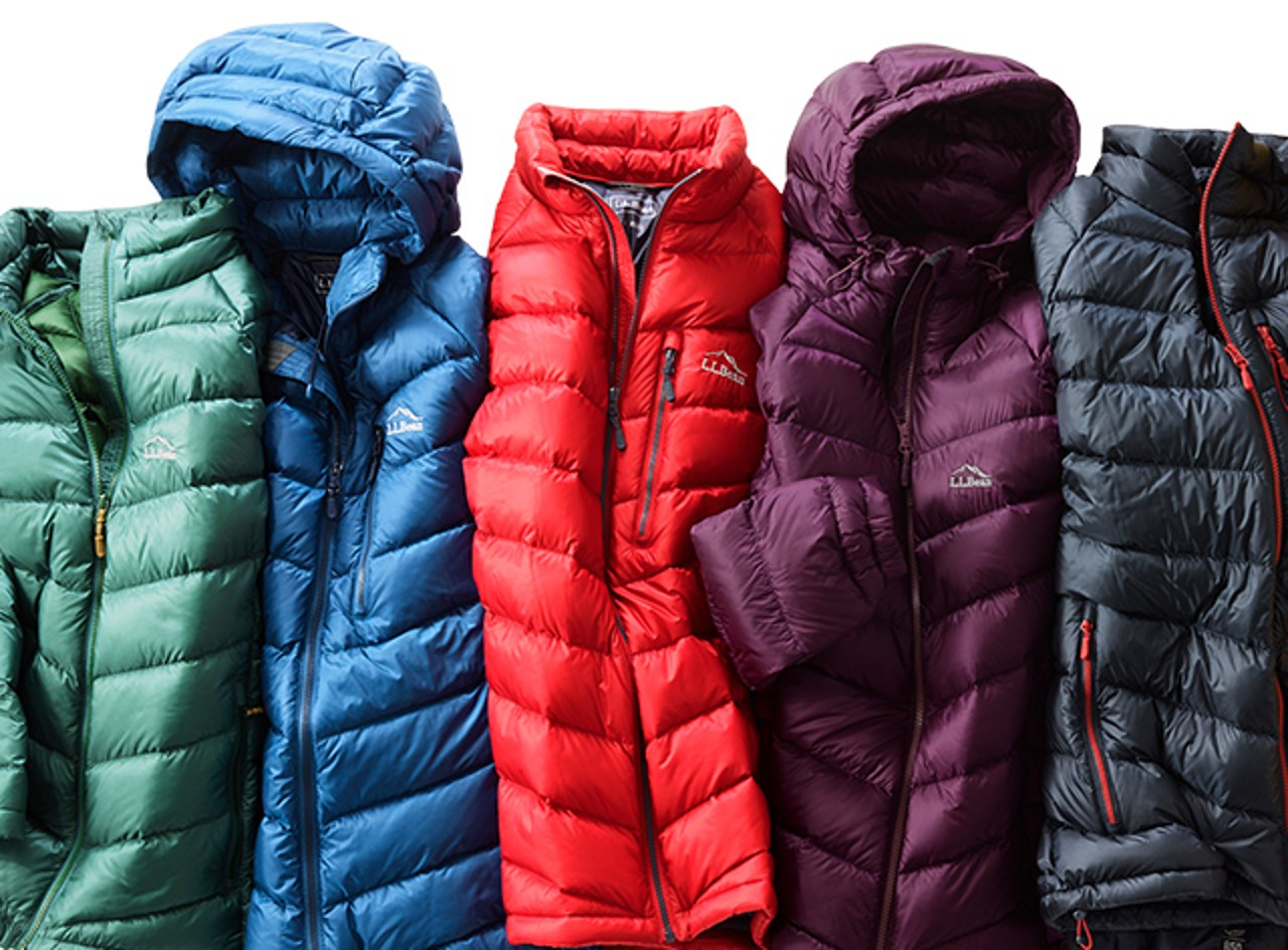 Colorful L.L. Bean 850 Down Jackets
