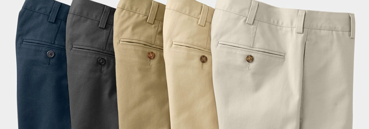 Close-up of 5 Double L Chino pants