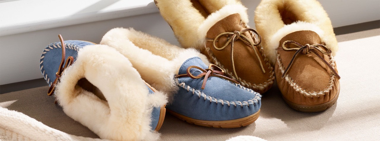 Two pair of women's slippers.
