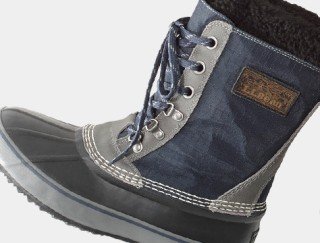 Close-up of a men's winter boot