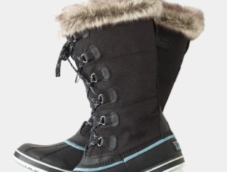 Close-up of a pair of women's winter boots
