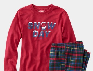 Close-up of kids' pajamas