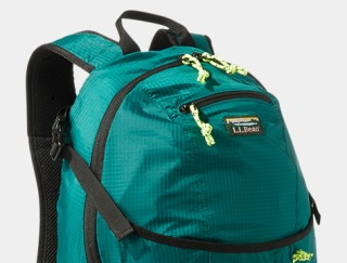 Close-up of L. L. Bean backpack