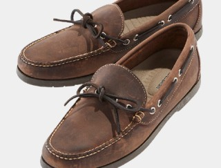 Close-up of L. L. Bean Camp Moccasins