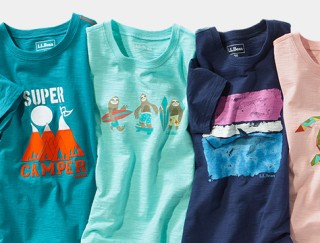 Splay of several kids' graphic tees.