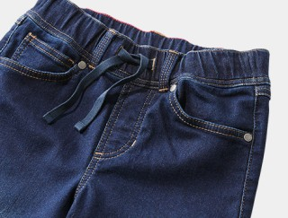 Close-up of a pair of kids' Jeans.