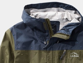 Close-up of L. L. Bean Hooded Jacket.