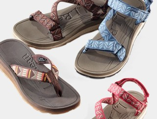 Four assorted sandals