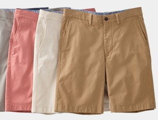 Splay of L. L. Bean men's shorts.