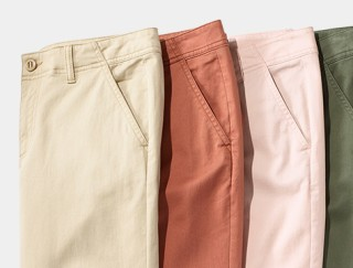 Splay of L. L. Bean Women's shorts.