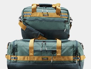 Matching duffle bag and briefcase.