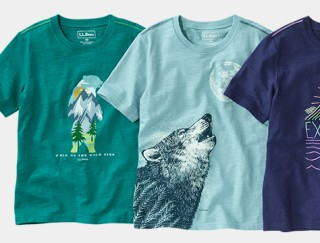 Splay of 3 kids' graphic tees.