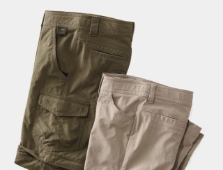 Laydown of kids' shorts and pants.