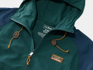 close-up of L. L. Bean men's anorak.