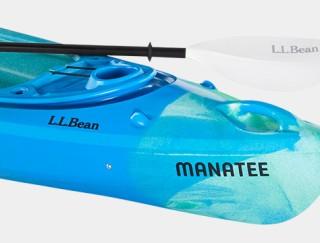 Close-up of L. L. Bean Manatee kayak.