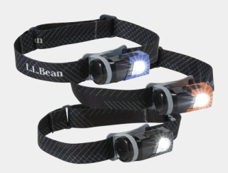 3 L. L. Bean headlamps.