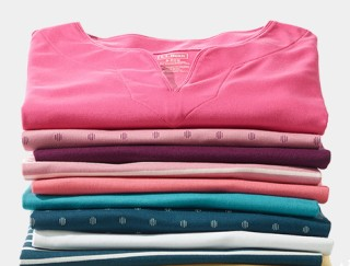 Stack of women's t-shirts.