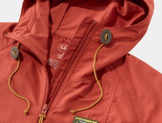 Close up of L. L. Bean women's anorak.
