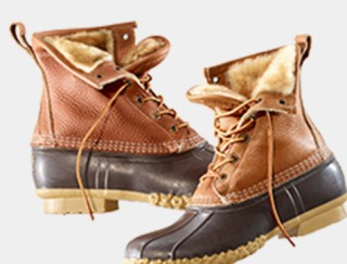Pair of shearling-lined Bean Boots.