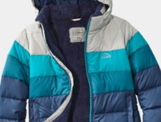 Close-up of Kids' down jacket.