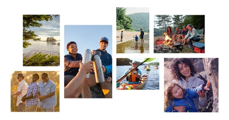 Images of people enjoying the outdoors