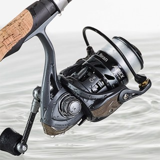 Close up of fishing reel