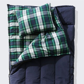 Close-up of sleeping bag