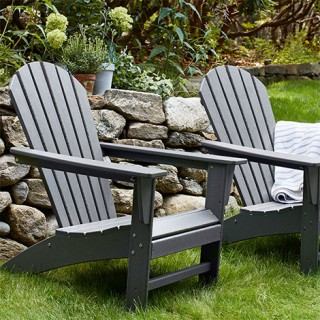 Outdoor setting with Adirondack chairs
