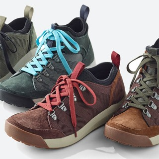Assortment of hiking footwear