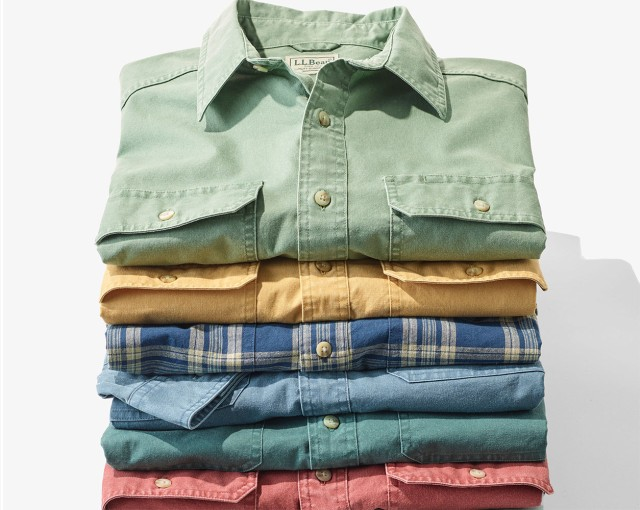 Stack on men's shirts