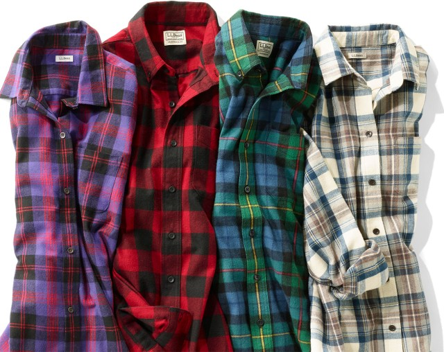 Group of flannel shirts