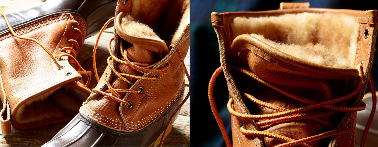 Pair of Shearling-Lined Bean Boots