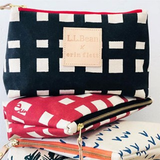 Two buffalo plaid and one bird's eye print Erin Flett hands bags