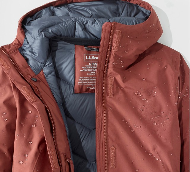 Waterproof Down Jacket with water droplets.