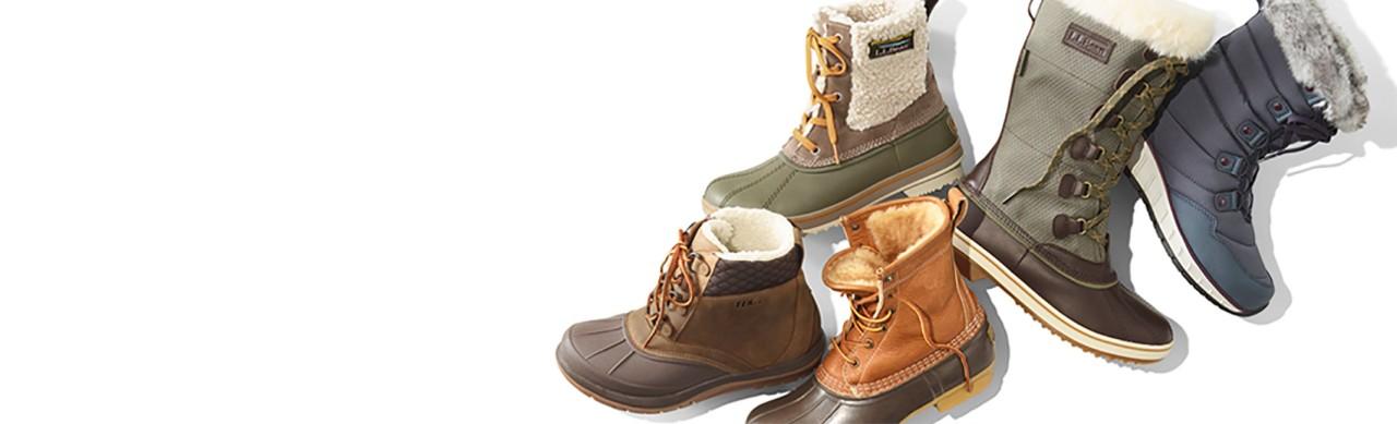 An assortment of women's boots.