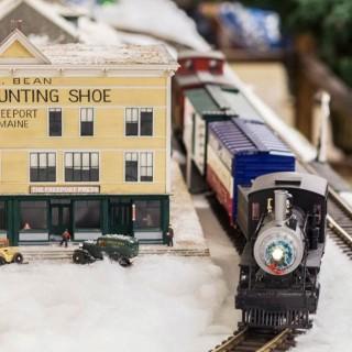 Model train village.