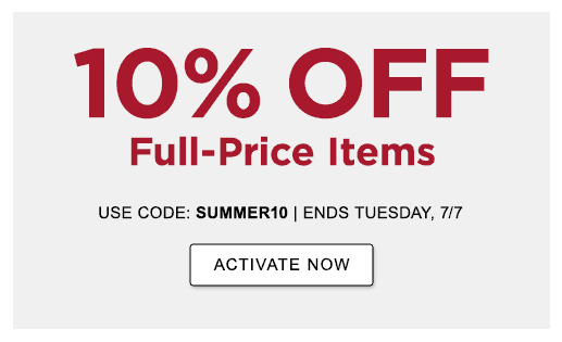 10% OFF full-price items with code SUMMER10 —or— 15% OFF with an L.L.Bean Mastercard OFFERS END TUESDAY, JULY 7 >ACTIVATE NOW