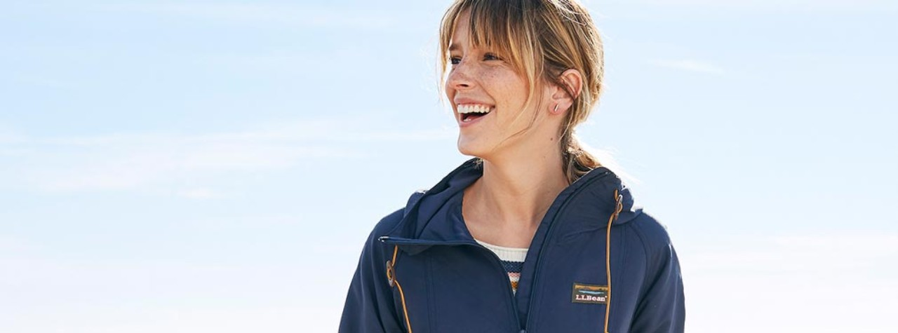 Close-up of woman outside wearing an anorak.