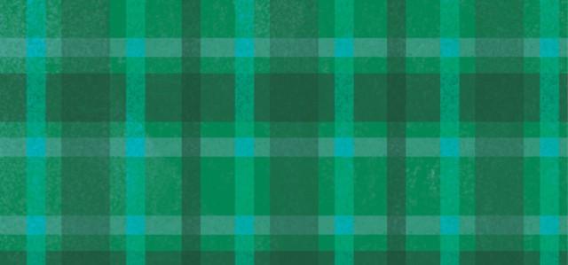 Green plaid illustration background.