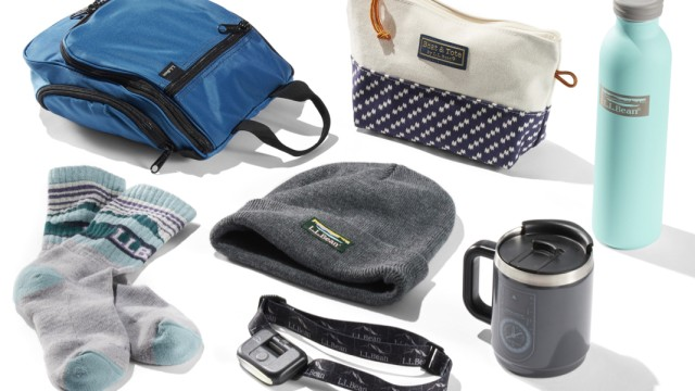 Several products under $25, including a wool hat, a water bottle and a canvas zip pouch