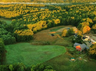 Aerial view of The Ecology School
