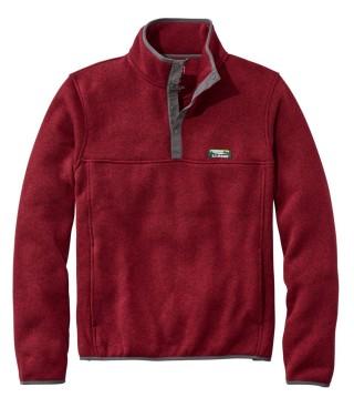A fleece quarter-zip pullover.