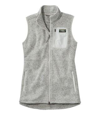 Zipper fleece vest.