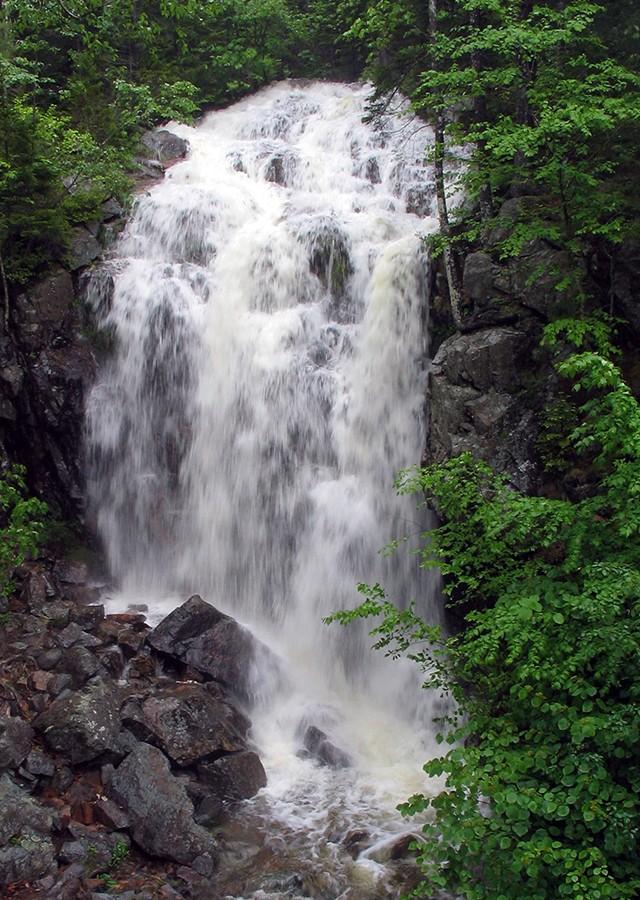 Summer waterfall at Acadia National Park, ME