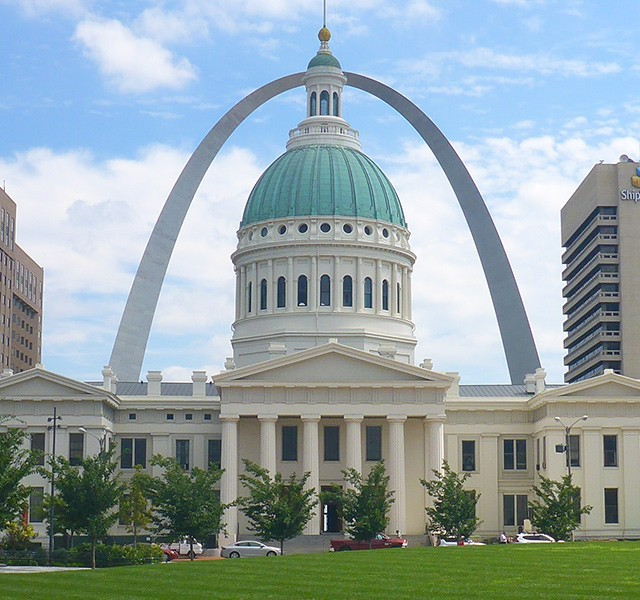 The Old Courthouse and Arch, Gateway Arch National Park