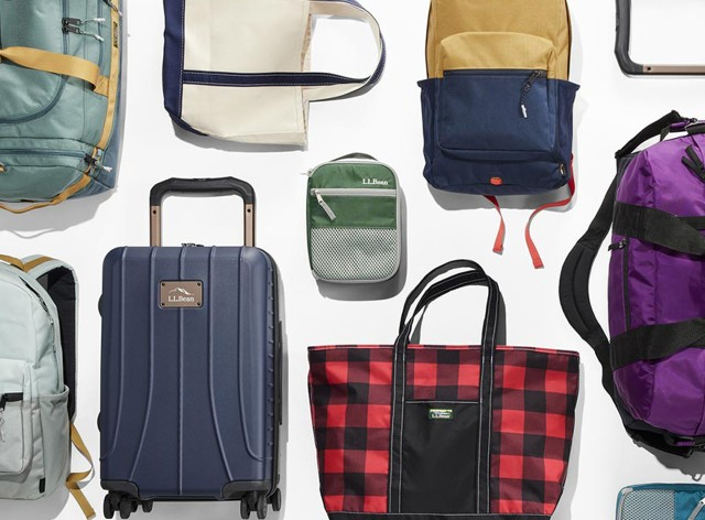 An assortment of luggage and travel pieces.