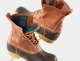 Pair of flannel-lined Bean Boots.